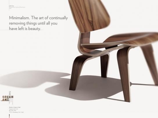 The Green Ant Print Ad -  Minimalism