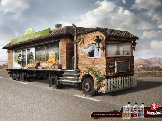 Kendall Lubricants Print Ad -  Greengrocery Truck