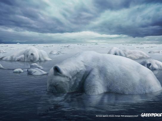 Greenpeace Print Ad -  Polar Bears