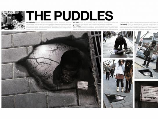 Greenpeace Ambient Ad -  Puddle