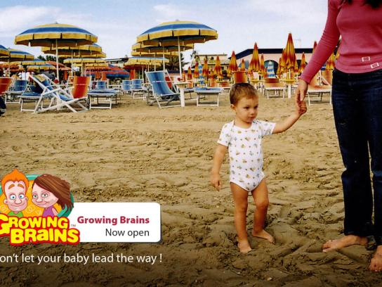 Growing Brains Print Ad -  Beach