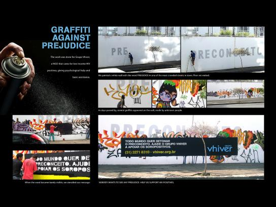 Grupo Vhiver Outdoor Ad -  Graffiti Against Prejudice