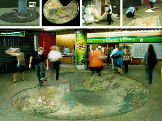 Guarana Antarctica Ambient Ad -  Metro