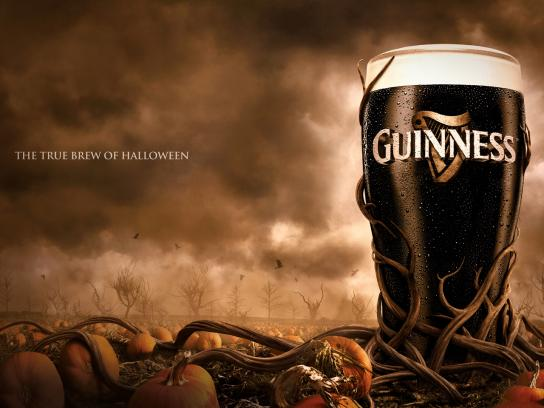 Guinness Print Ad -  The True Brew of Halloween