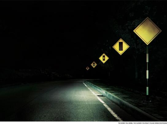 Guinness Outdoor Ad -  Traffic light