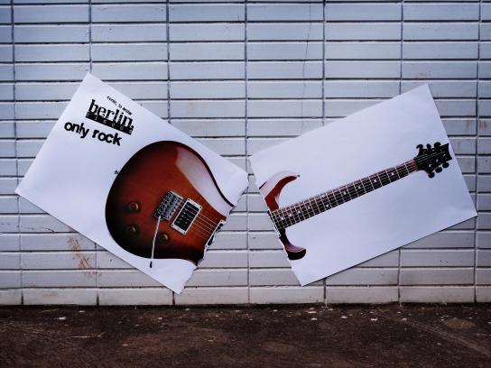 Berlin Discos Outdoor Ad -  Guitar