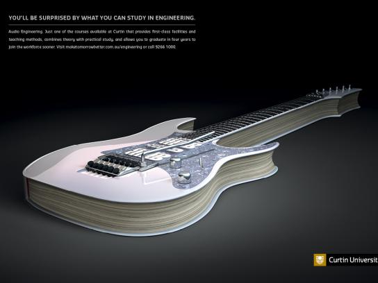 Curtin University Print Ad -  Guitar