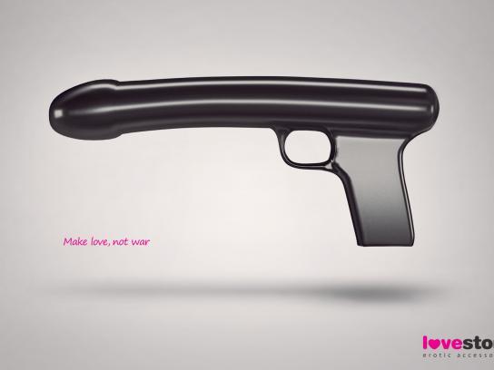 Lovestore Print Ad -  Gun