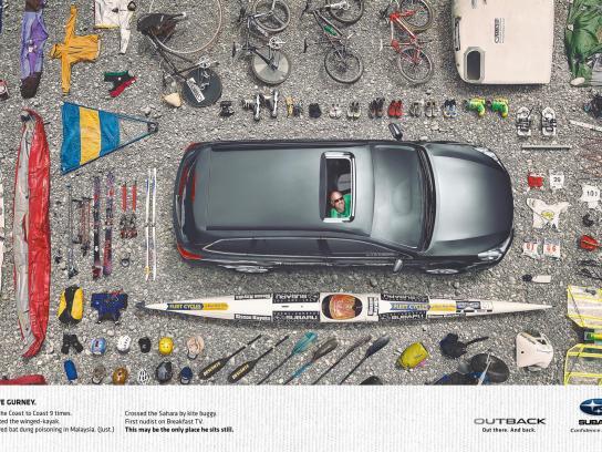 Subaru Print Ad -  Steve Gurney, Nutter