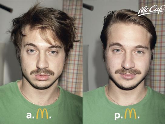 McDonald's Print Ad -  AM–PM, Guy