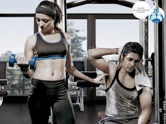 Sanitol Print Ad -  Gym