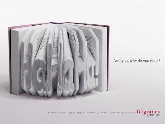 Filigranes Print Ad -  HaHaHa!