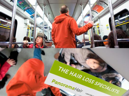 Panorama Hair Outdoor Ad -  Transit Ad
