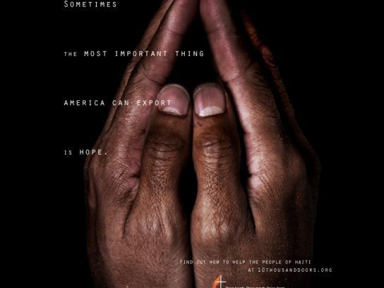 United Methodist Church Print Ad -  Hope