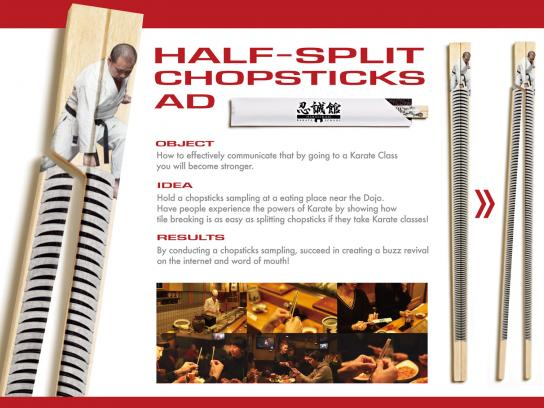 Ninseikan Direct Ad -  Half-split chopsticks
