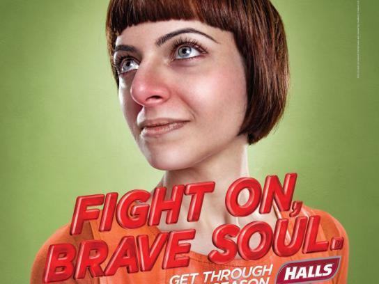 Halls Print Ad -  Brave soul