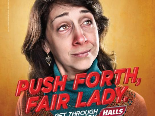 Halls Print Ad -  Fair lady