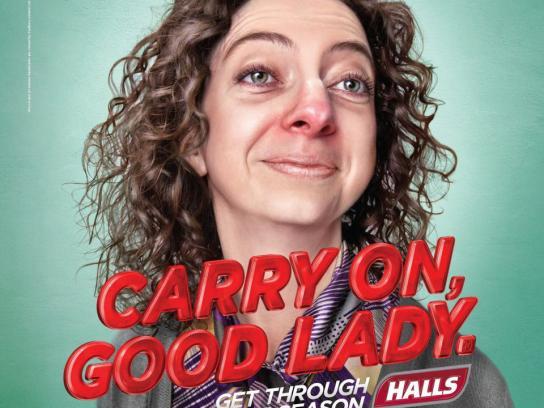 Halls Print Ad -  Good lady