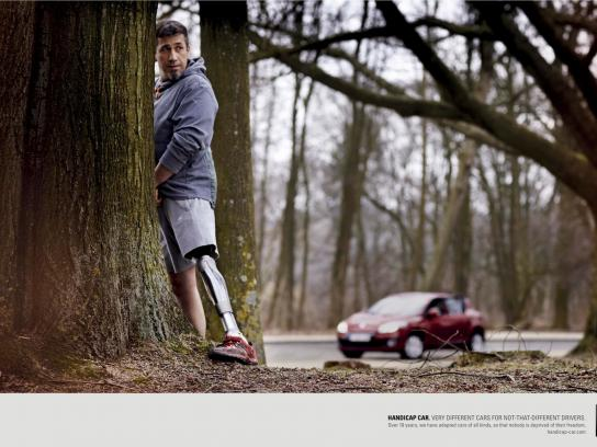 Handicap Car Print Ad -  Pee