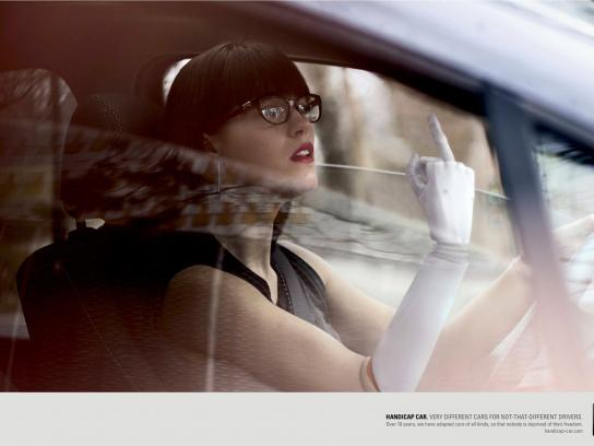Handicap Car Print Ad -  F*** off