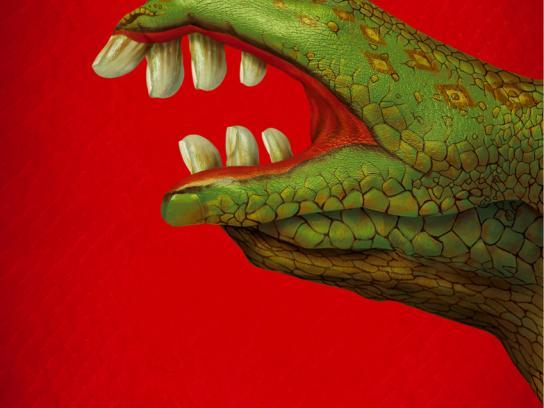 Secretaria Estadual Da Saúde Print Ad -  Monster Hands, 1