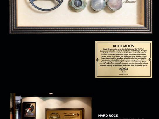 Hard Rock Cafe Print Ad -  Keith Moon