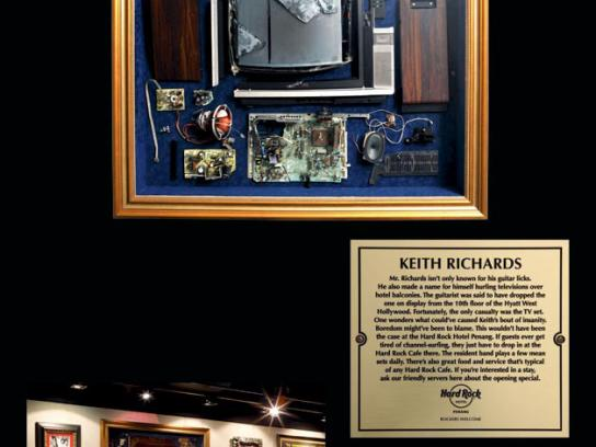 Hard Rock Cafe Ambient Ad -  Keith Richards