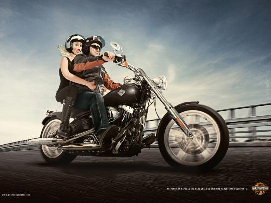 Harley-Davidson Print Ad -  Doll