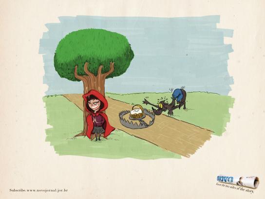 Novo Jornal Print Ad -  Little red riding hood