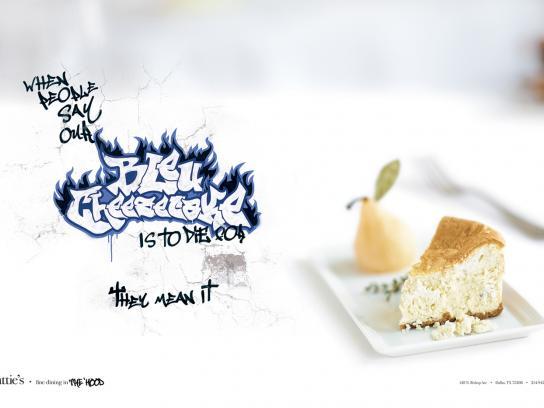 Hattie's Print Ad -  Bleu Cheesecake