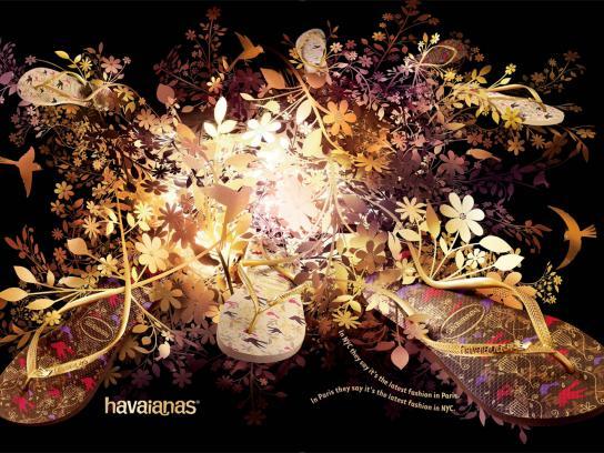 Havaianas Print Ad -  Golden bird