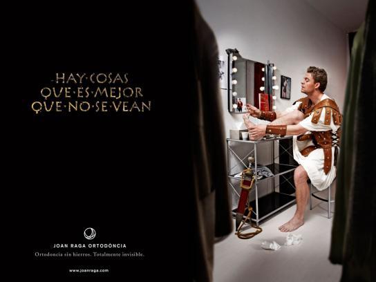 Joan Raga Orthodontics Print Ad -  Gladiator