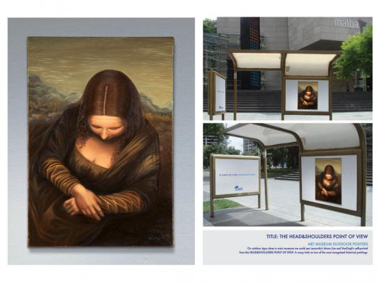 Head & Shoulders Outdoor Ad -  Mona Lisa