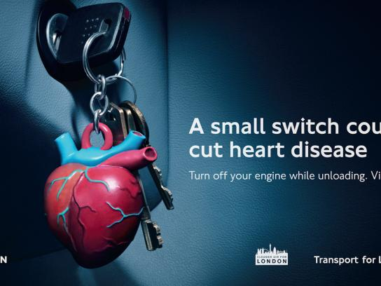 Transport for London Print Ad -  No Idling, Heart
