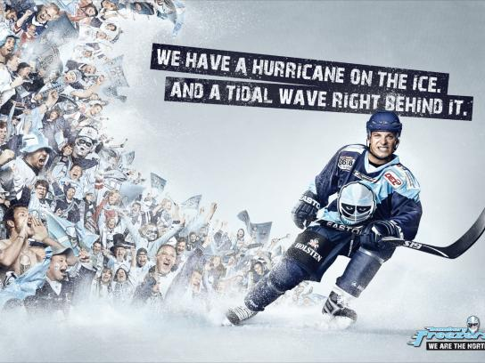 Hamburg Freezers Print Ad -  We are the north, Wave