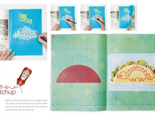 Heinz Print Ad -  Heinz Sketch up, 1