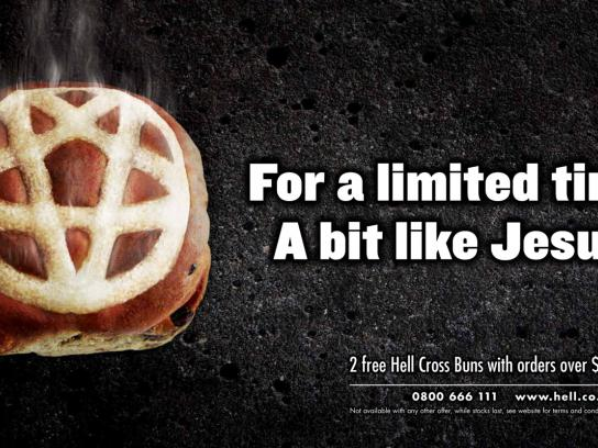 Hell Pizza Outdoor Ad -  Hell Cross Bun