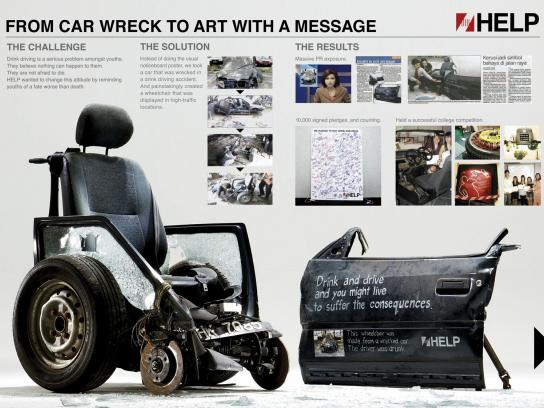 Help Ambient Ad -  Art against drunk driving
