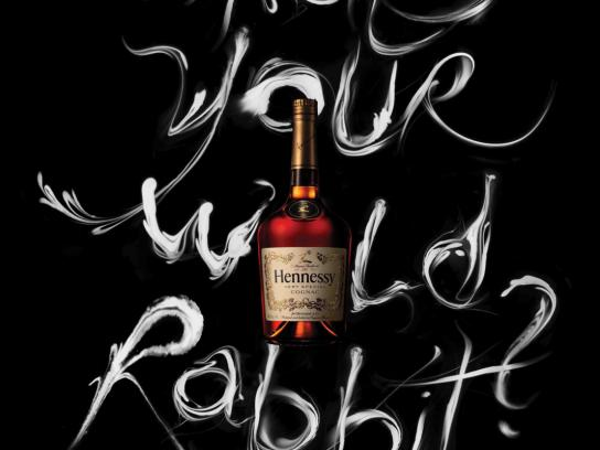Hennessy Outdoor Ad -  What's Your Wild Rabbit