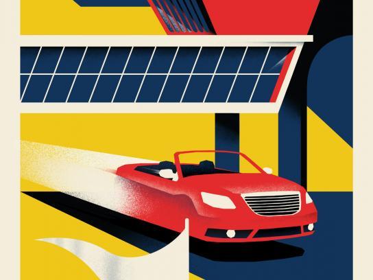 Hertz Print Ad -  Land & Drive