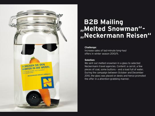 Neckermann Direct Ad -  Melted Snowman