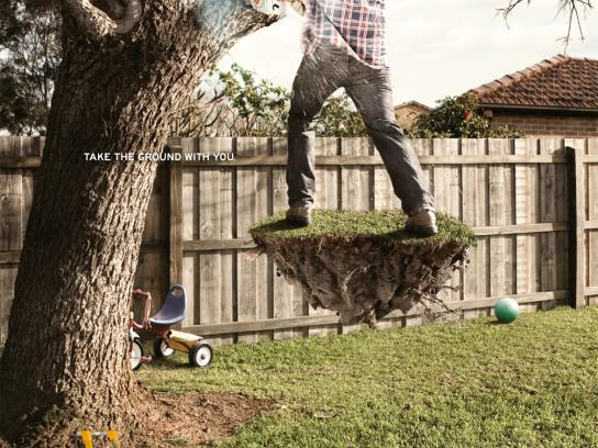Gorilla Ladders Print Ad -  Outdoors