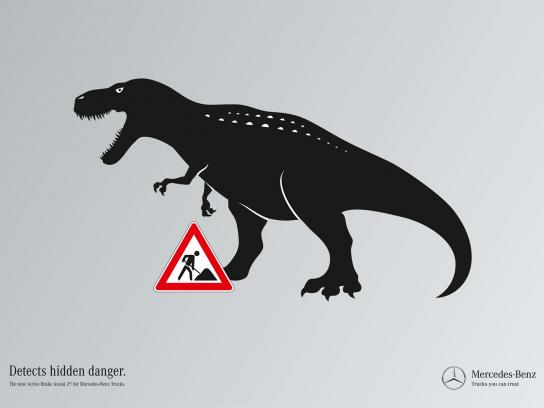 Mercedes Print Ad -  Hidden dangers, Dino
