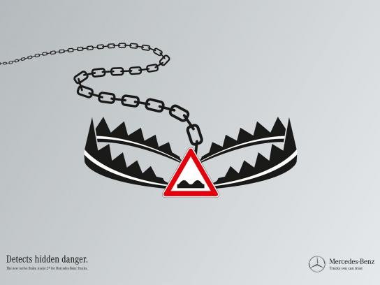 Mercedes Print Ad -  Hidden dangers, Trap