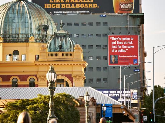 Carlton Outdoor Ad -  High Billboard