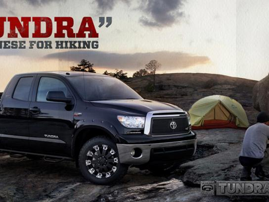 "Toyota Outdoor Ad -  ""Tundra"" Japanese for hiking"