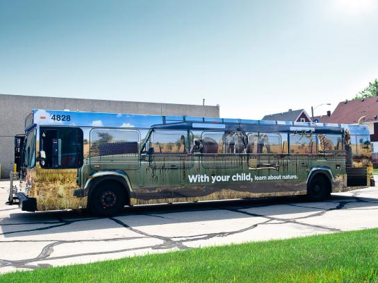 HIP Outdoor Ad -  Bus wrap safari