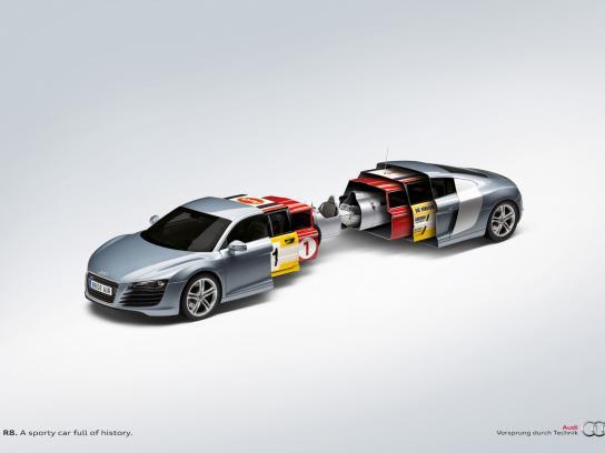 Audi Print Ad -  History