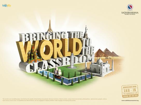 Sadhbhavana World School Print Ad -  History