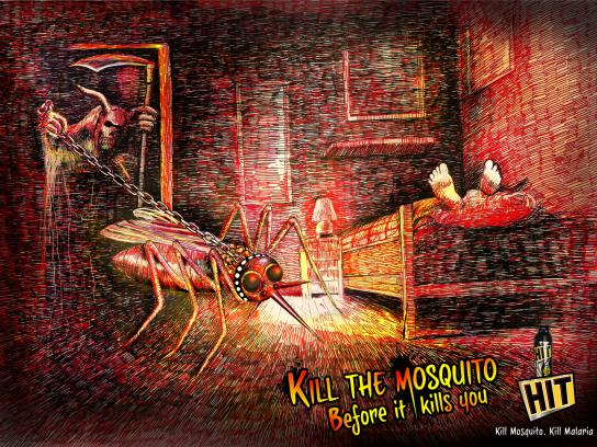 Hit Mosquito Killer Print Ad -  Grim Reaper